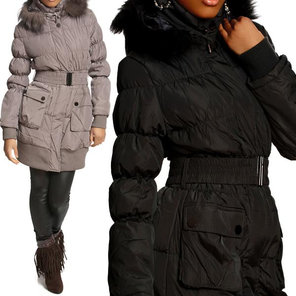 warme damen winter stepp jacke stepp mantel parka fell. Black Bedroom Furniture Sets. Home Design Ideas