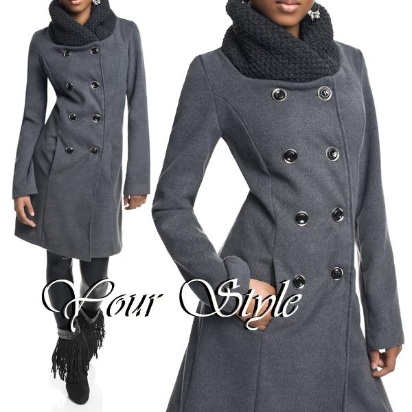 neu damen winter mantel wollmantel jacket stehkragen wollkragen xs s m l xl xxl ebay. Black Bedroom Furniture Sets. Home Design Ideas