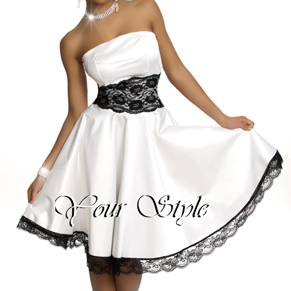 bezauberndes damen abendkleid cocktail kleid ballkleid petticoat mit spitze neu ebay. Black Bedroom Furniture Sets. Home Design Ideas