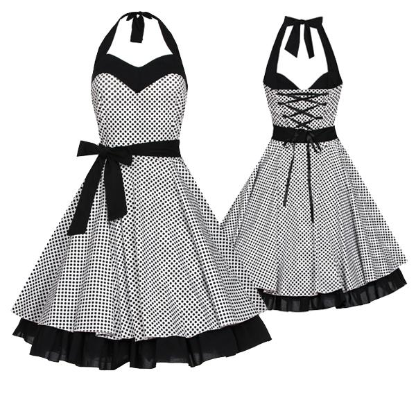 laeticia dreams damen pin up petticoat rockabilly kleid 50er neu xs s m l xl ebay. Black Bedroom Furniture Sets. Home Design Ideas